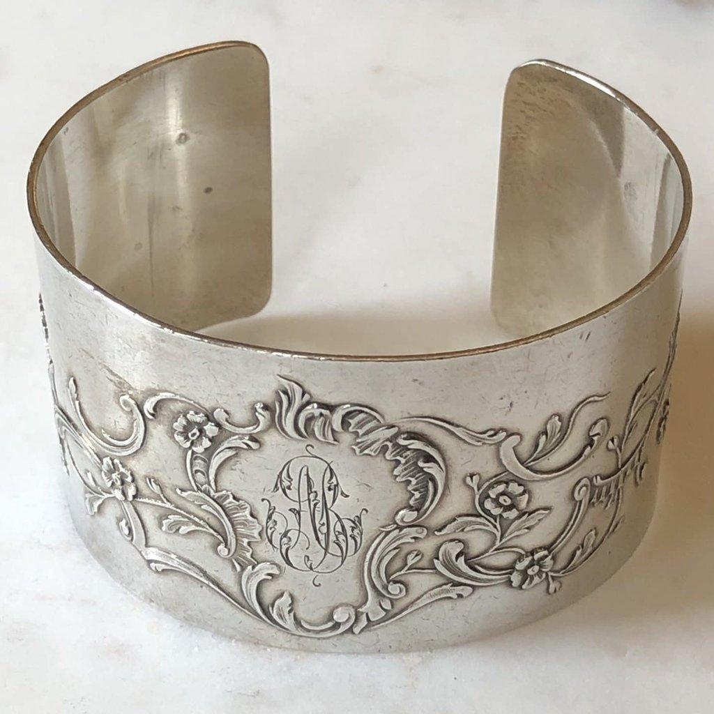 French Napkin Ring Cuff, AB Monogram