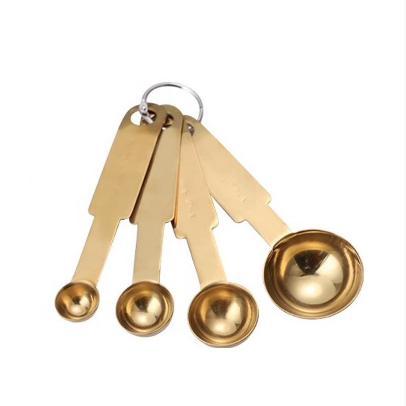 LPM Measuring Spoons, gold