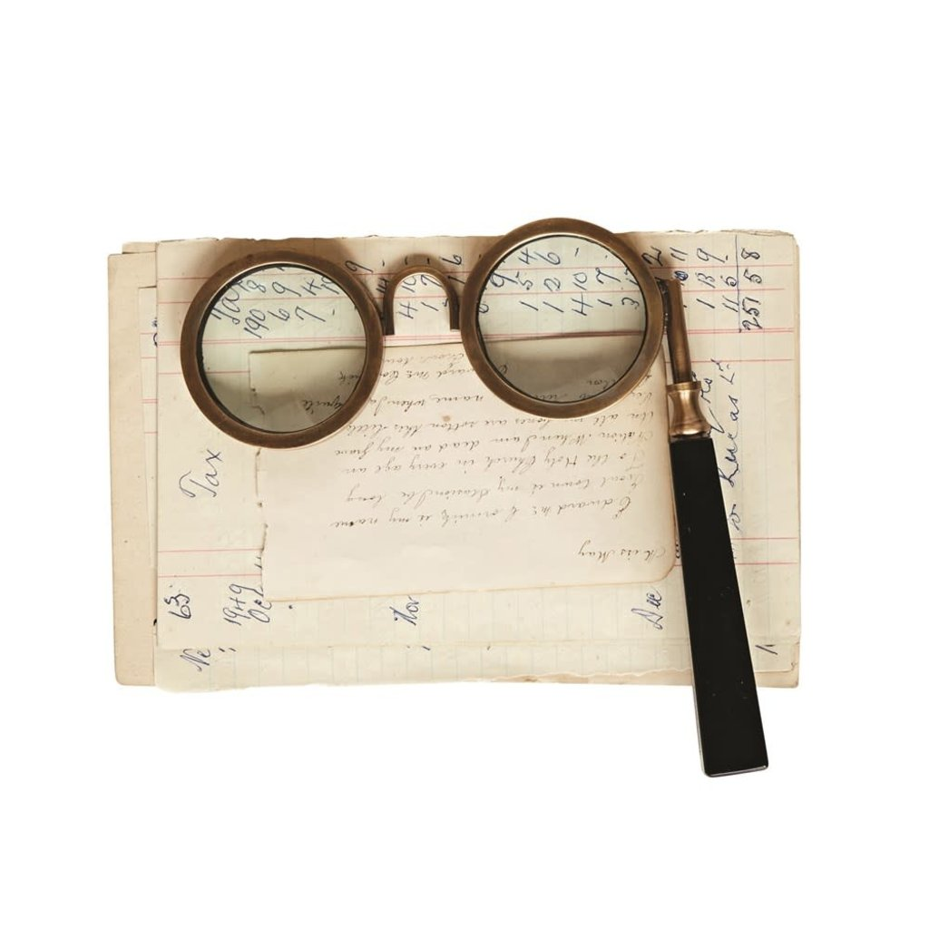 LPM Brass & Resin Spectacle Magnifying Glass