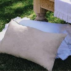 LPM Boho Lumbar Pillow, greige