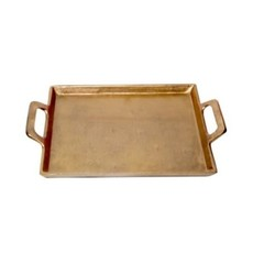 LPM Aluminum Brass Tray with Handles, small