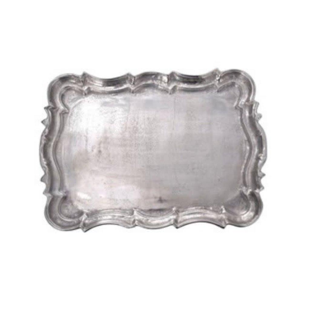 Cast Aluminum Rectangular Baroque Tray