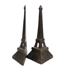 LPM Eiffel Tower Bookends, cast iron bronze