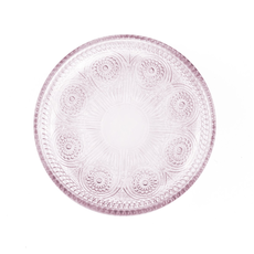 LPM Dentelle Duchesse Pink Glass Plate