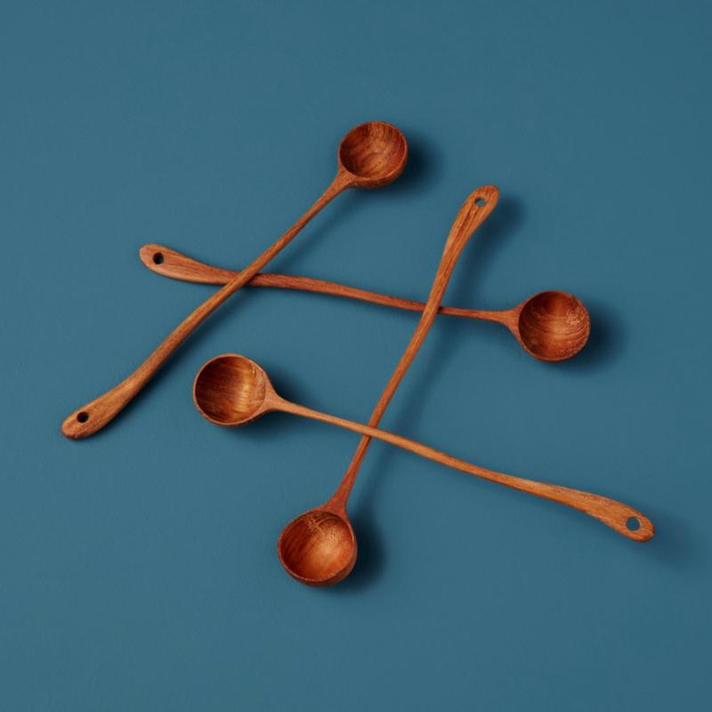 LPM Teak Long Curved Spoons
