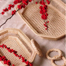 LPM Rectangle Web & Spiral Weave Tray