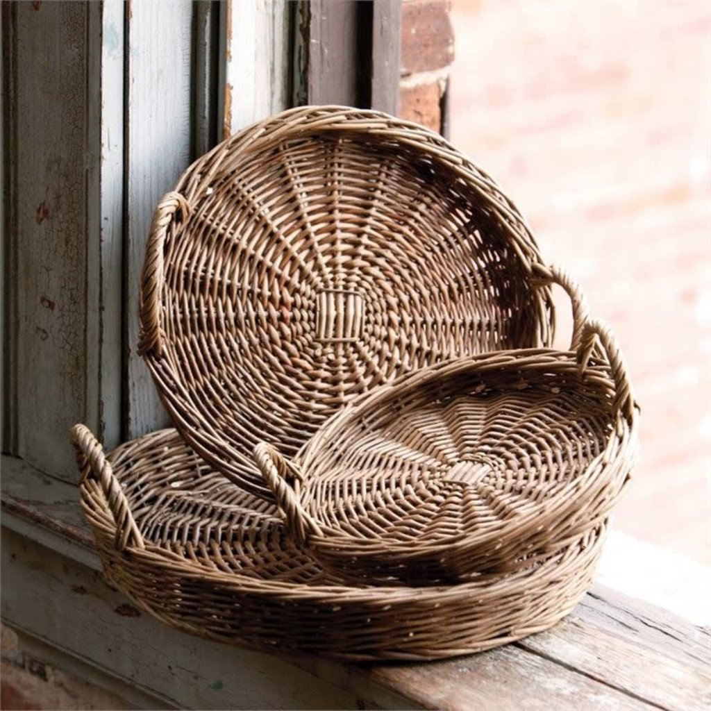 LPM Round Willow Tray, Large