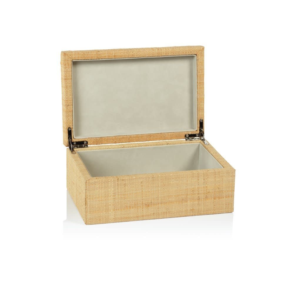 LPM Bungalow Grasscloth Box, Medium