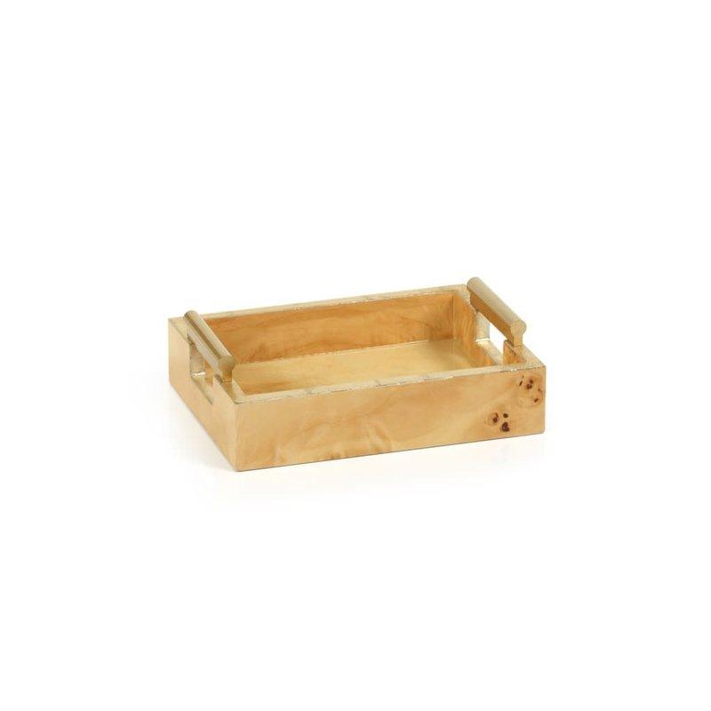 LPM Leiden Burl Wood Design Tray, Small