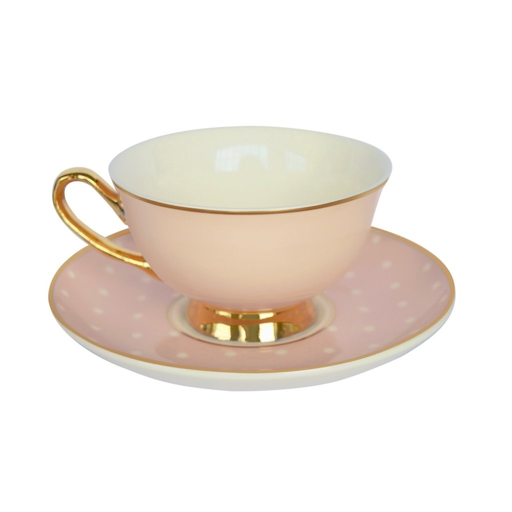 Spotty Teacup and Saucer