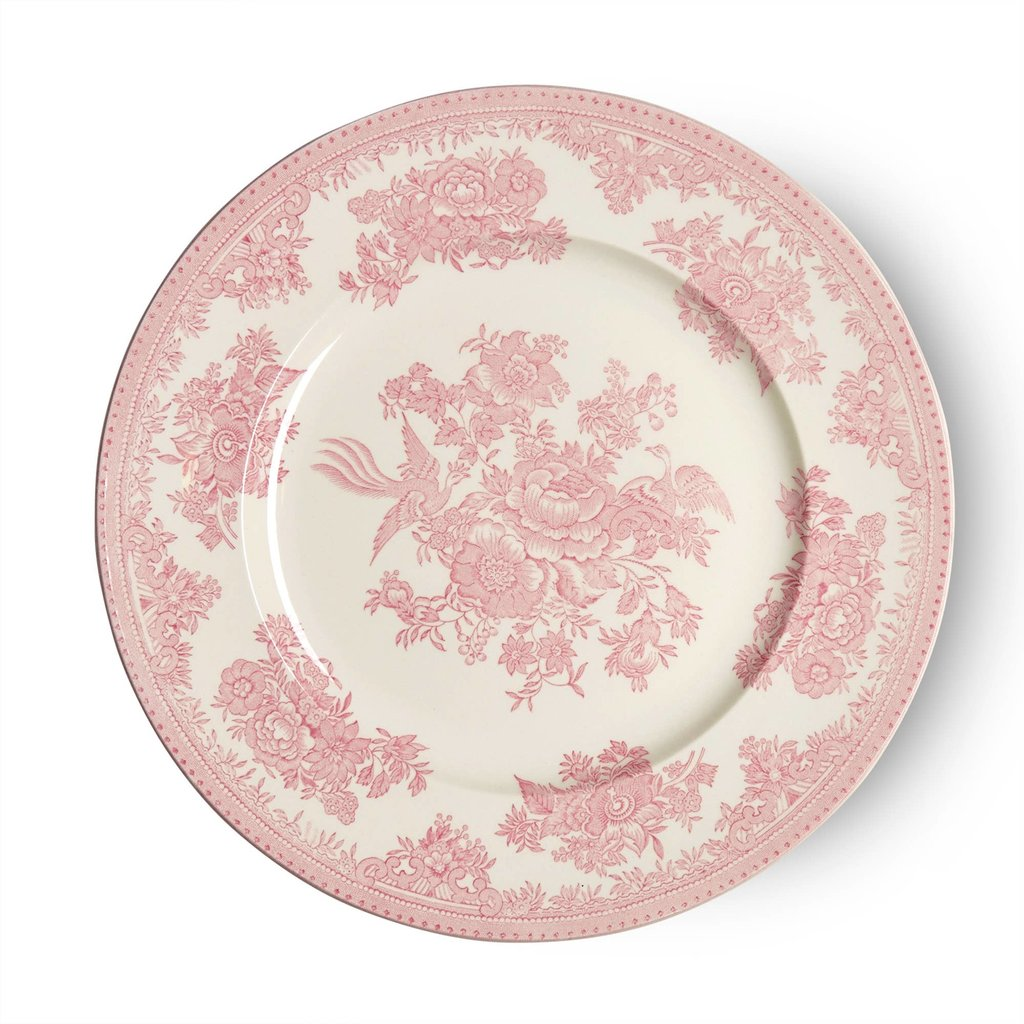 Burleigh Pink Asiatic Pheasants Plate - Large
