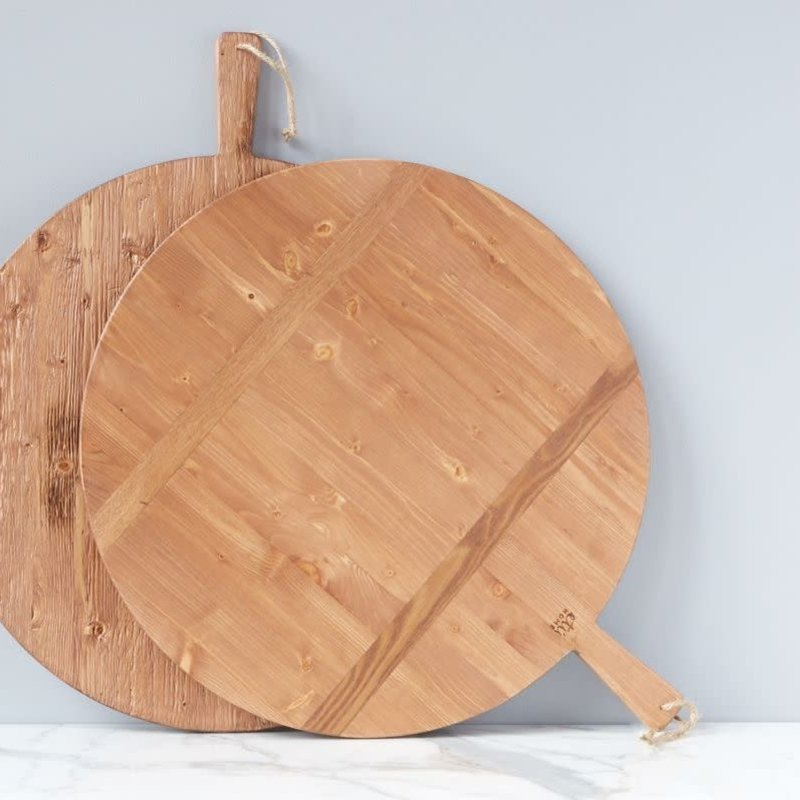 Round Pine Charcuterie Board, Large