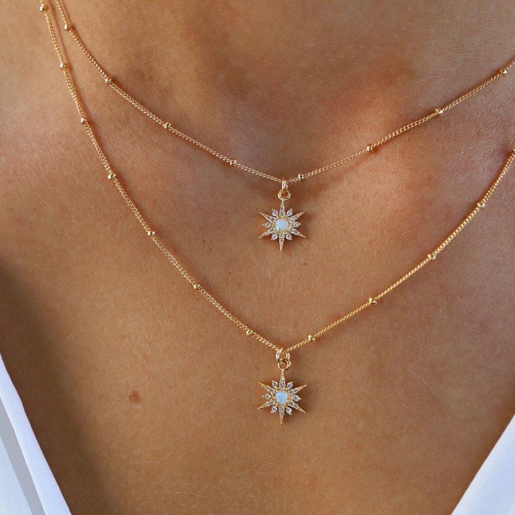 LPM Opal Starburst Necklace