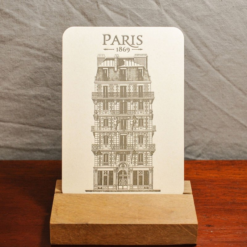 LPM Card Parisian Building Place Voltaire