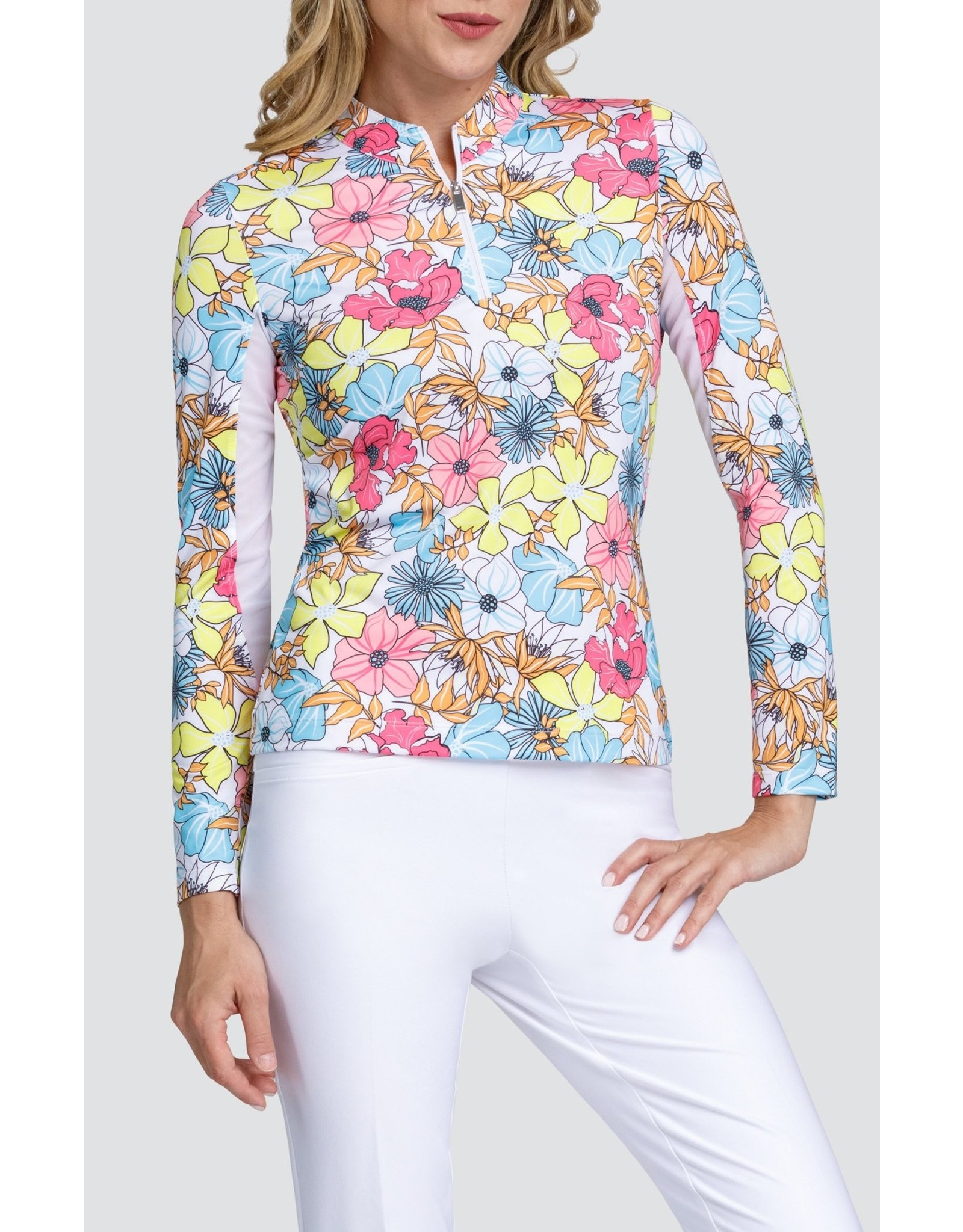 Tail Joy Top - Sunset Blooms L