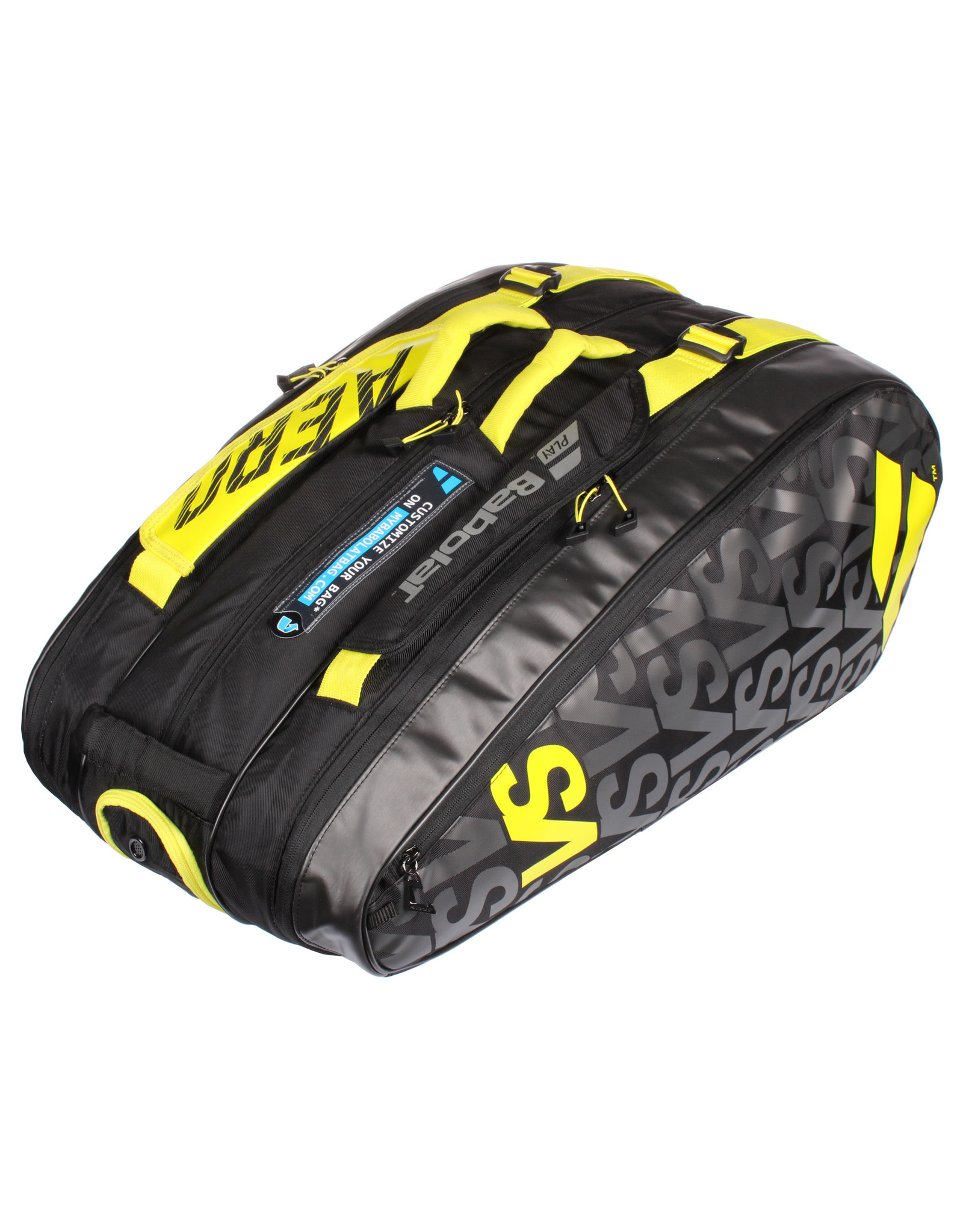 Babolat Babolat Pure Aero VS 9 Pack Tennis Bag Black and Yellow