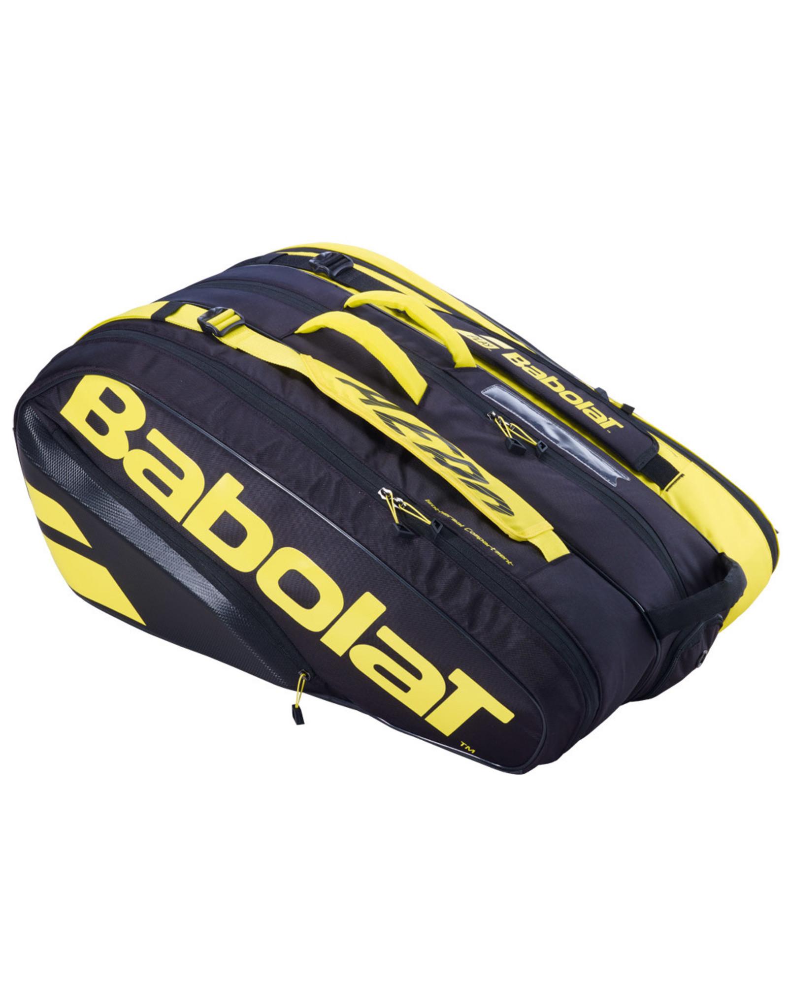 Babolat Babolat Pure Aero RHx12 Tennis Bag Black and Yellow