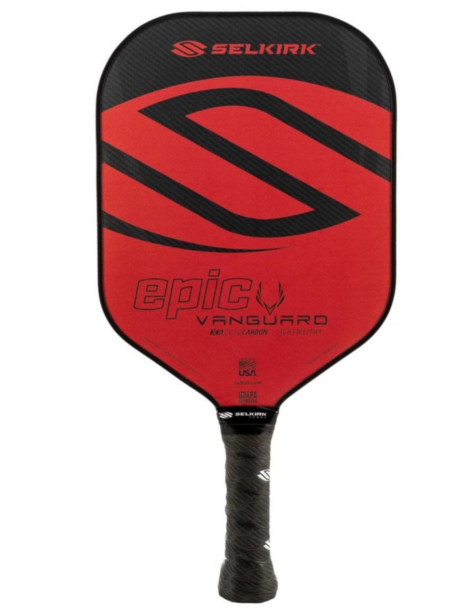 Selkirk Selkirk Vanguard Hybrid Epic Lightweight Crimson Black Pickleball Paddle