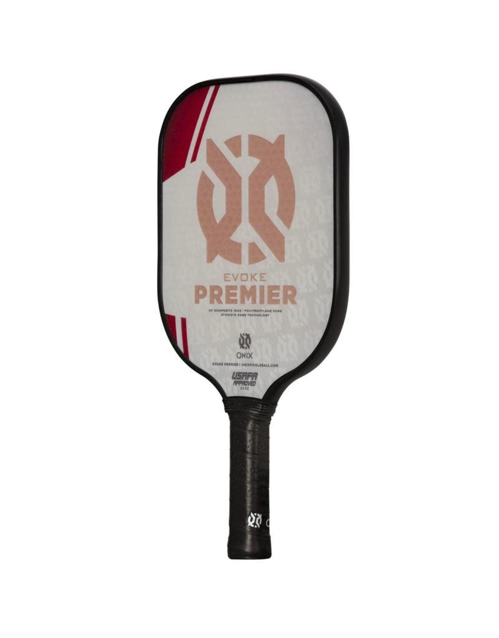 Onix Onix Evoke Premier Standard Weight Red Pickleball Paddle