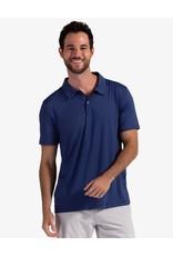 Bloq UV BloqUv Men's Collared Short Sleeve Shirt Navy