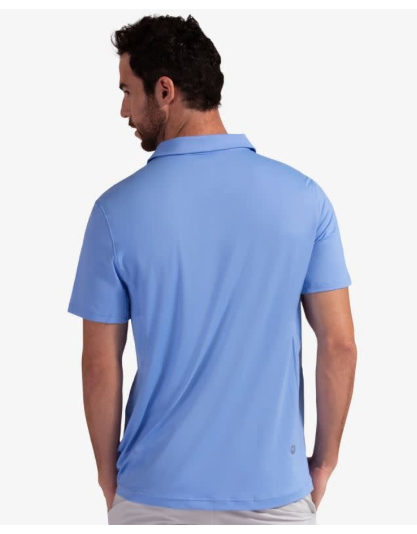 Bloq UV BloqUv Men's Collared Short Sleeve Shirt Indigo