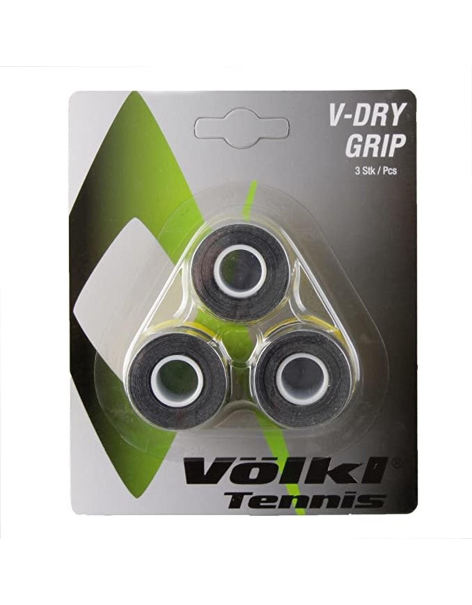 Volkl V-Dry Grip(3 pack) Black