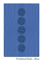 Racquet Inc Pickleball Balls Towel (Blue)