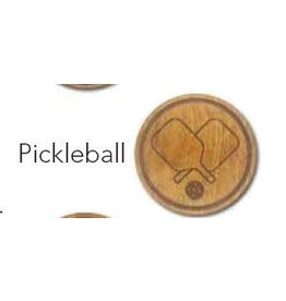 Racquet Inc Premium Wood Drink Coasters (Pickleball)
