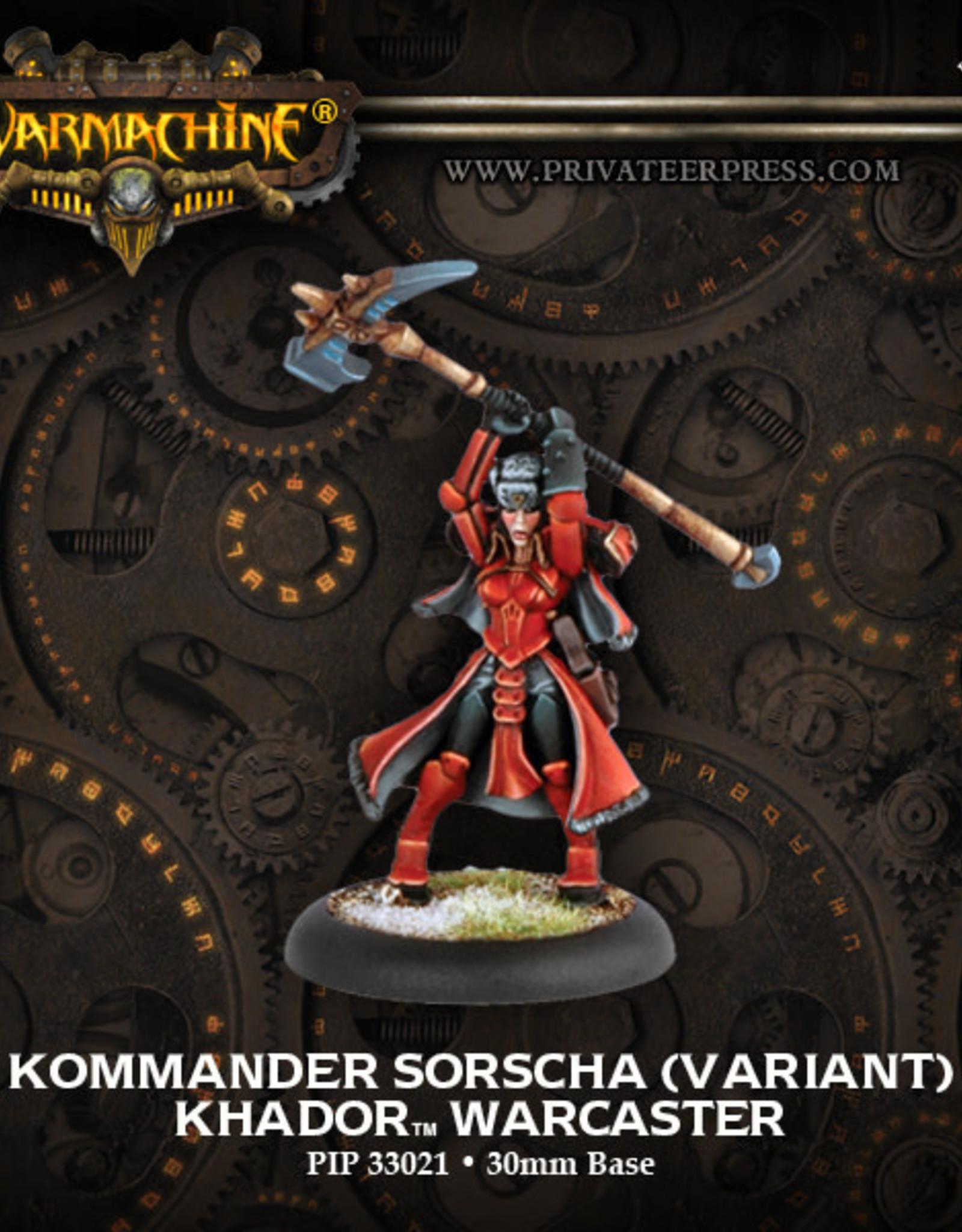Warmachine Khador - Kommander Sorscha