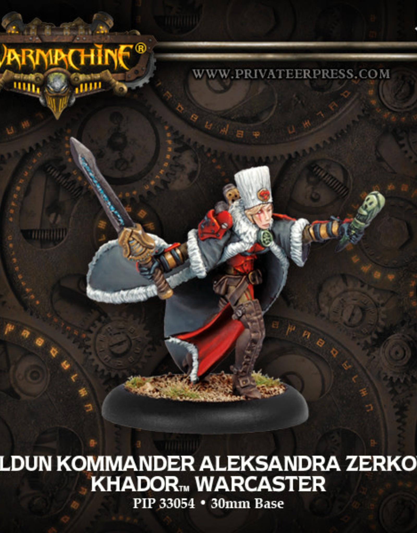 Warmachine Khador Kommander Zerkova