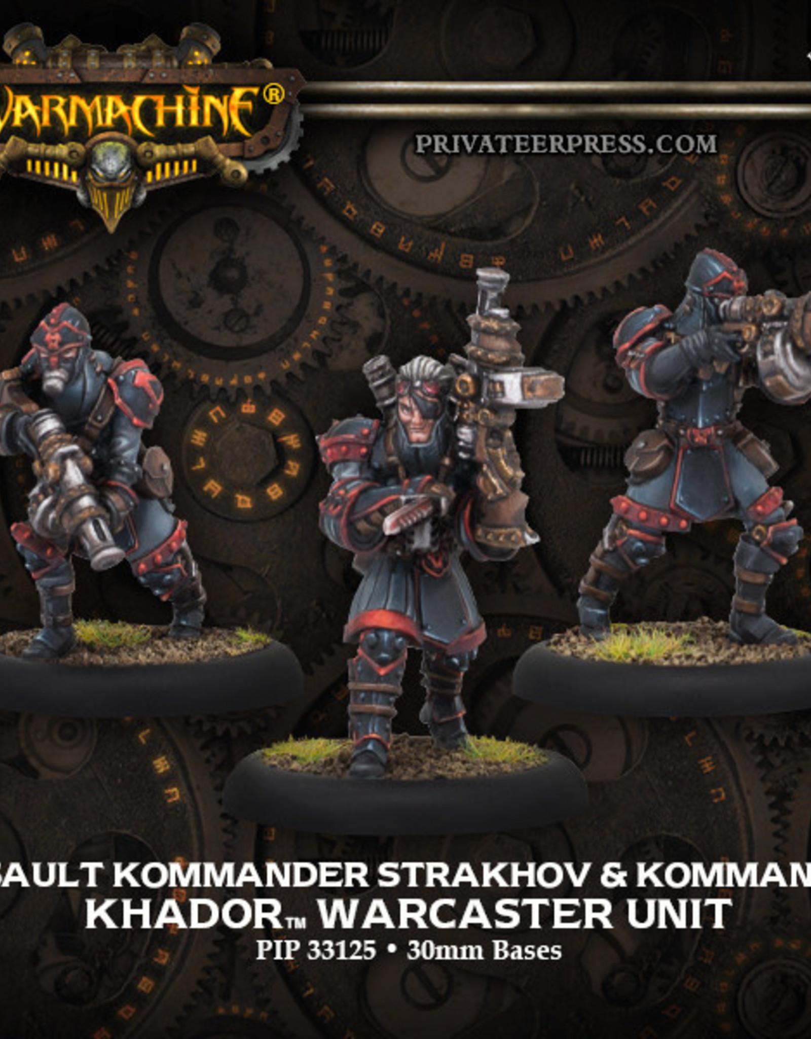 Warmachine Khador Kommander  Strakhov/Kommandos
