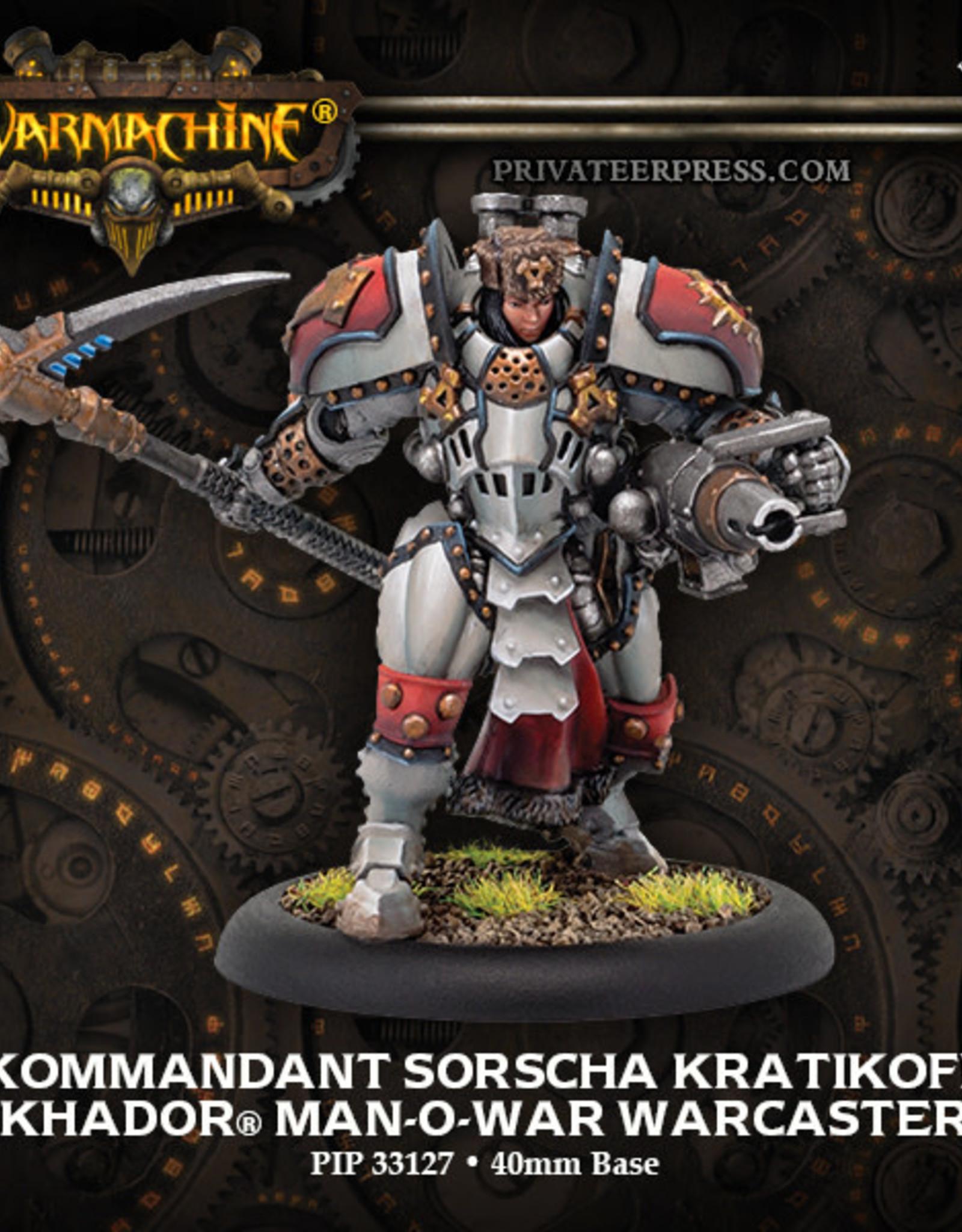 Warmachine Khador - Kommandant Sorcha Kratikoff