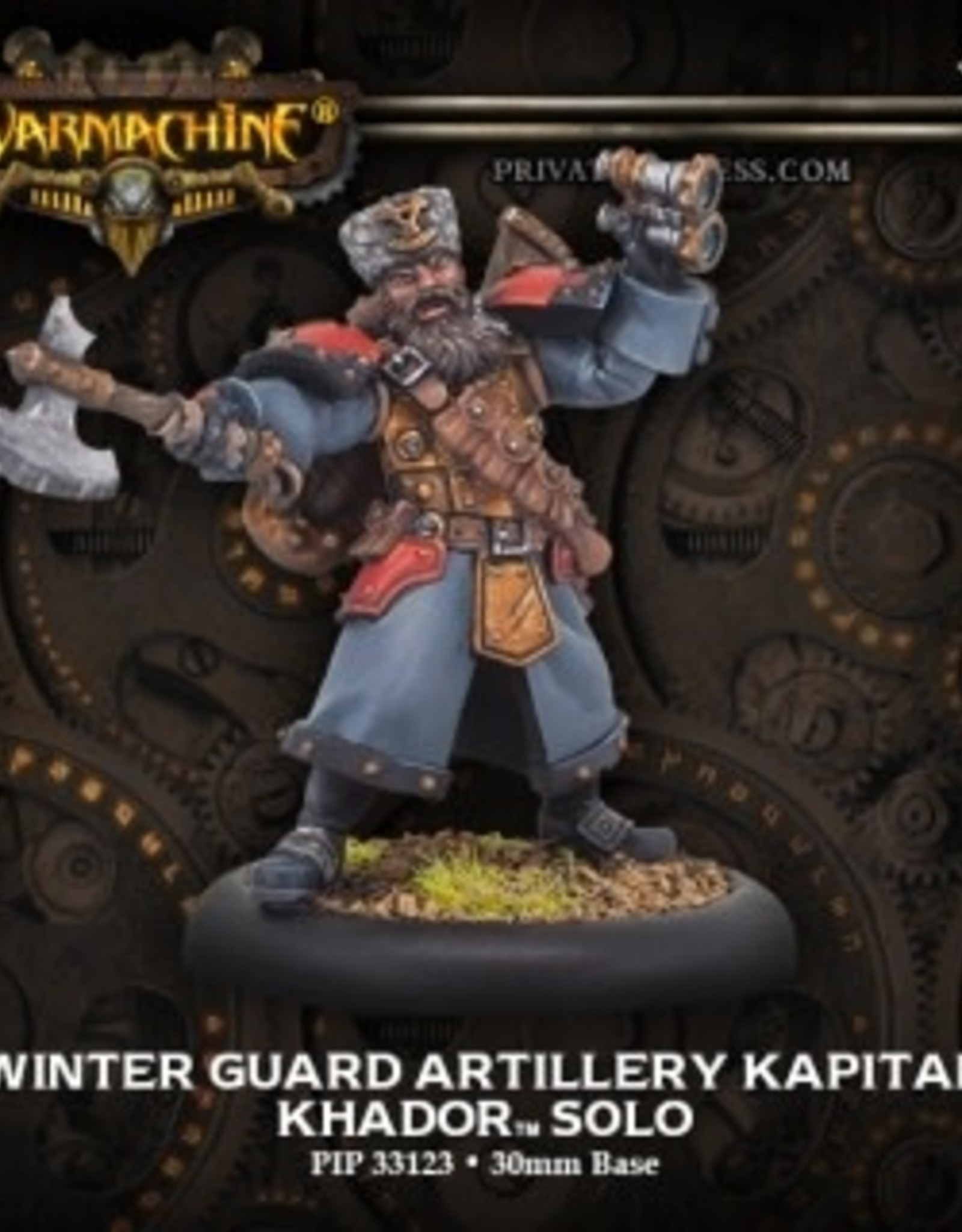 Warmachine Khador - Winter Guard Artillery Kapitan