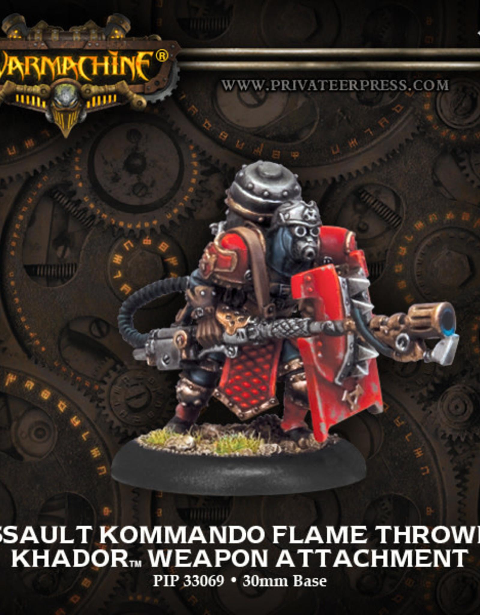 Warmachine Khador - Kommando Flame Thrower