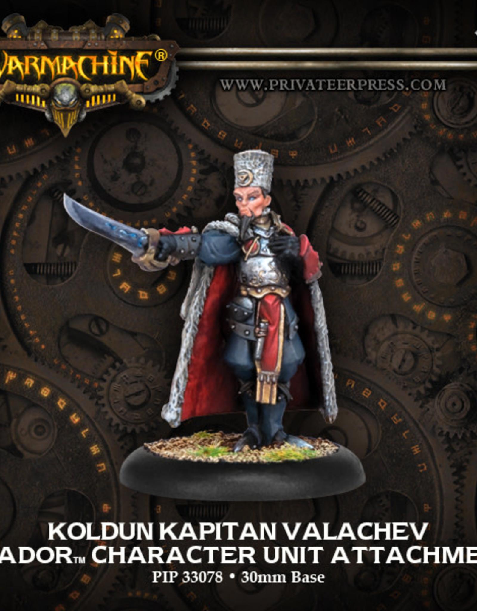 Warmachine Khador - Koldun Kapitan Valachev