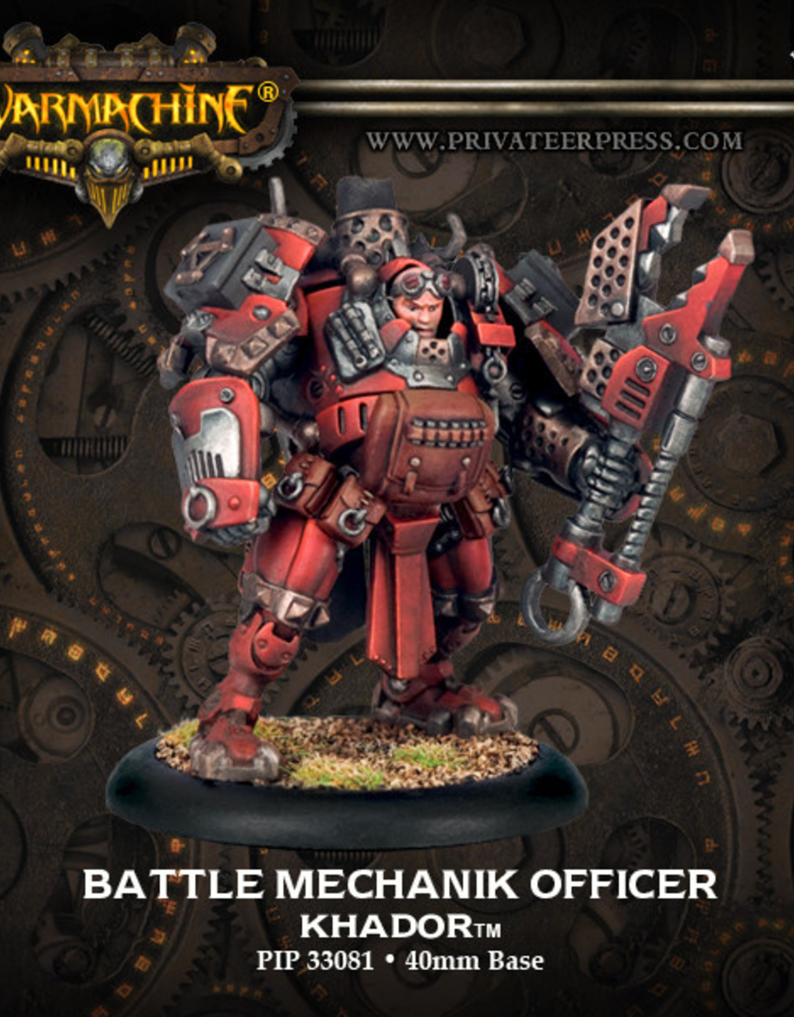 Warmachine Khador - Battle Mechanik Officer