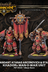 Warmachine Khador - Kommandant Atanas Unit