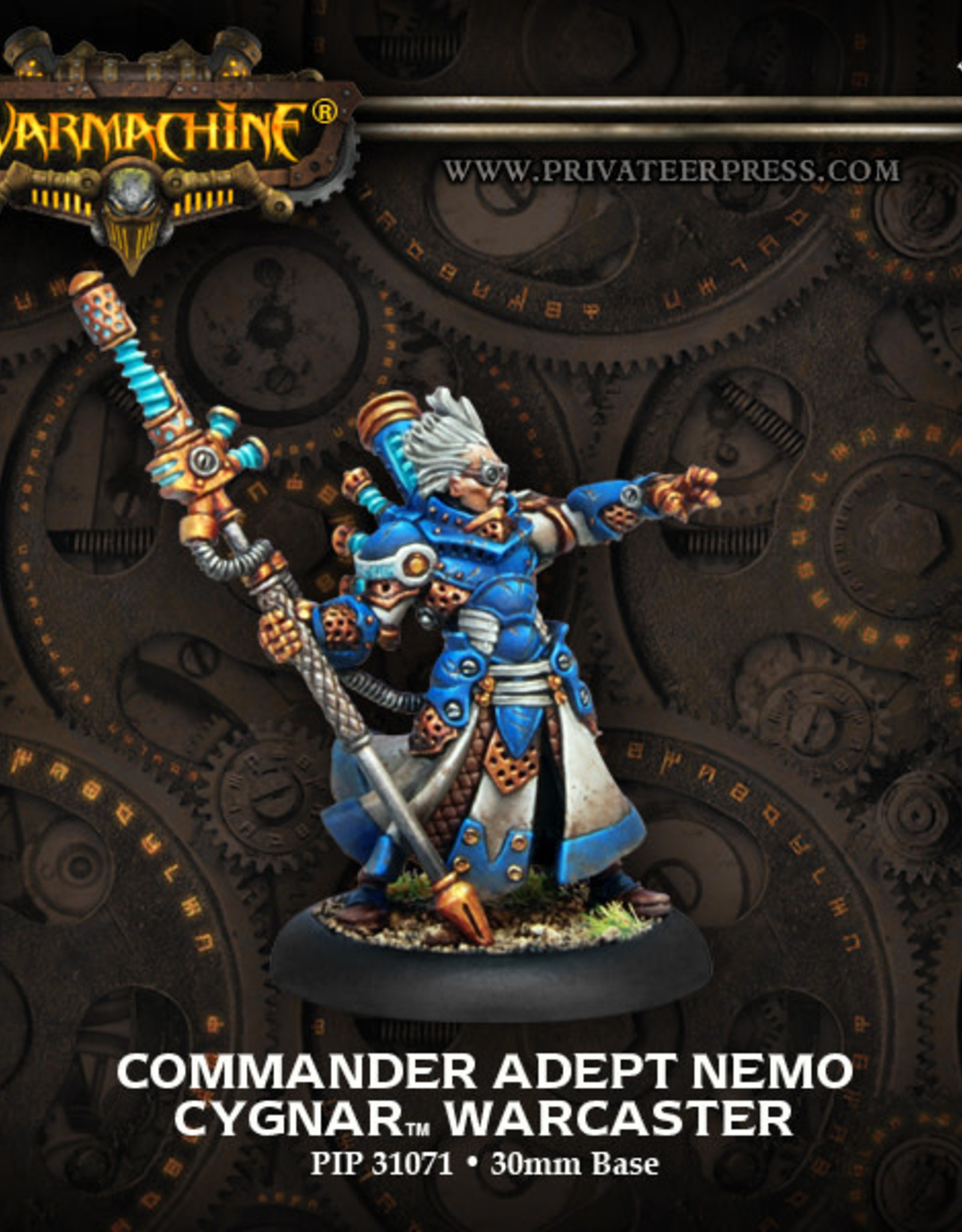 Warmachine Cygnar - Commander Adept Nemo
