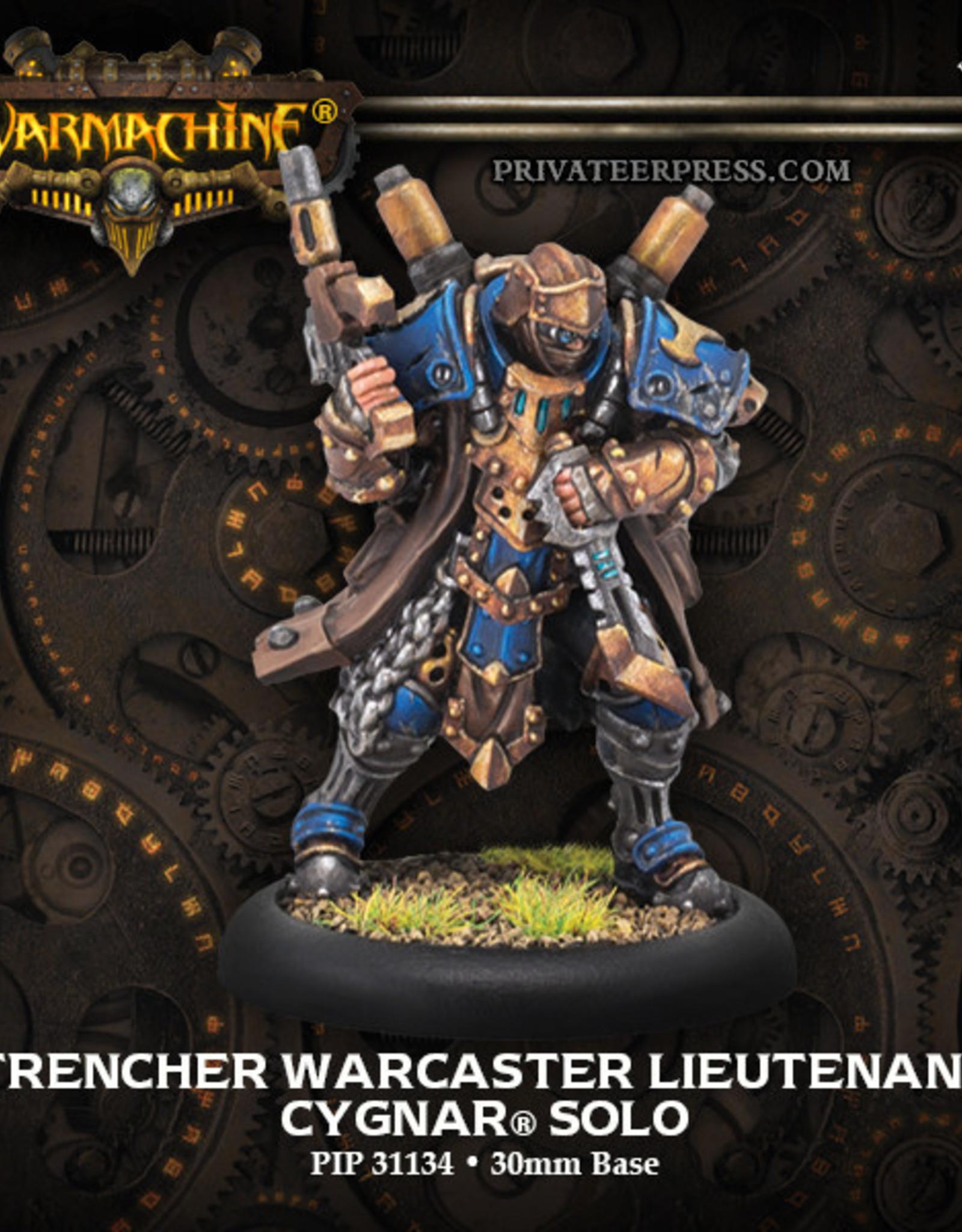Warmachine Cygnar - Trencher Warcaster