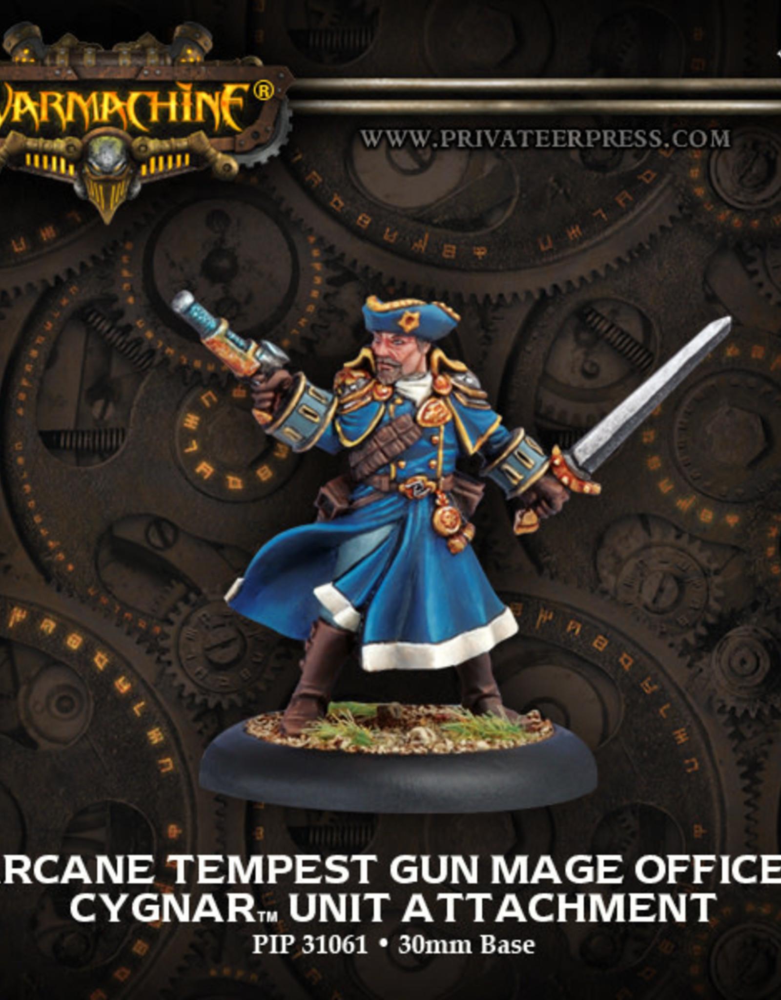 Warmachine Cygnar - Tempest Gun Mage Officer