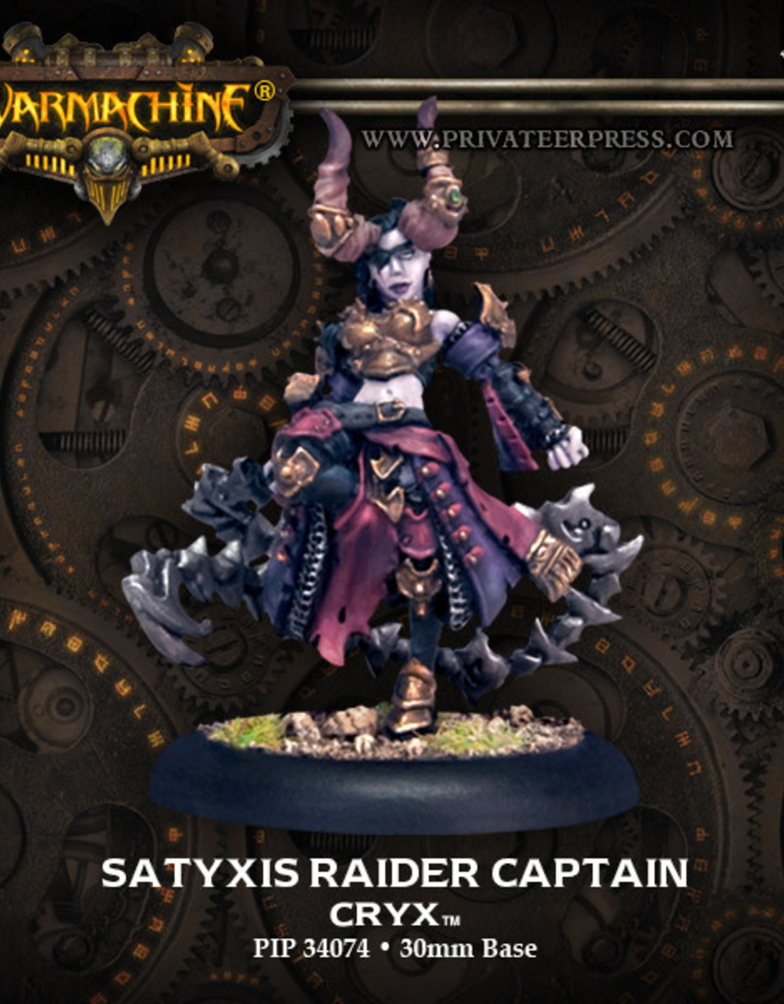Warmachine Cryx - Satyxis Raider Captain