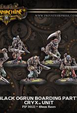 Warmachine Cryx - Black Ogrun Boarding Par