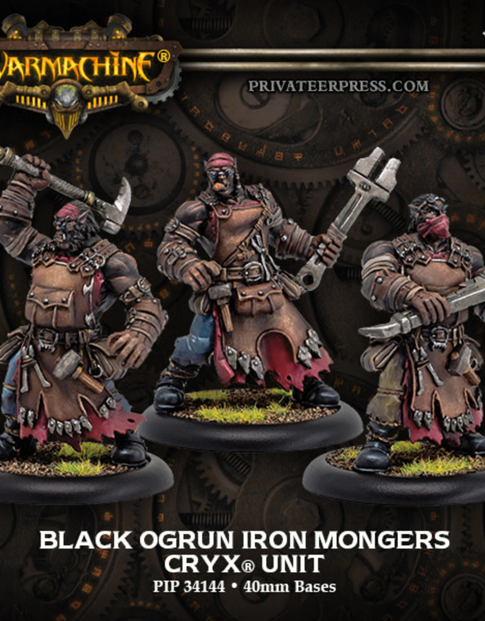 Warmachine Cryx - Black Ogrun Iron Mongers