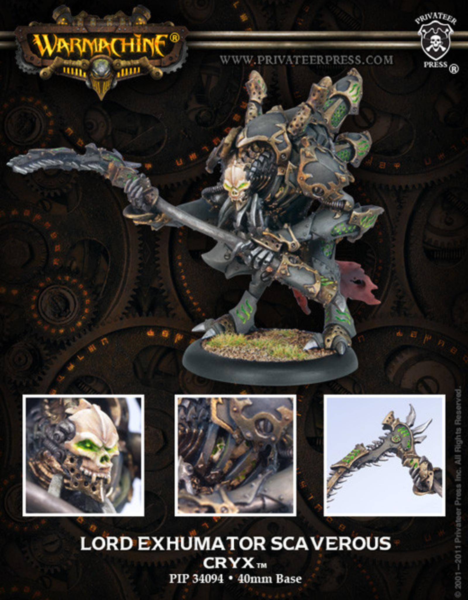Warmachine Cryx - Lord Exhumator Scaverous