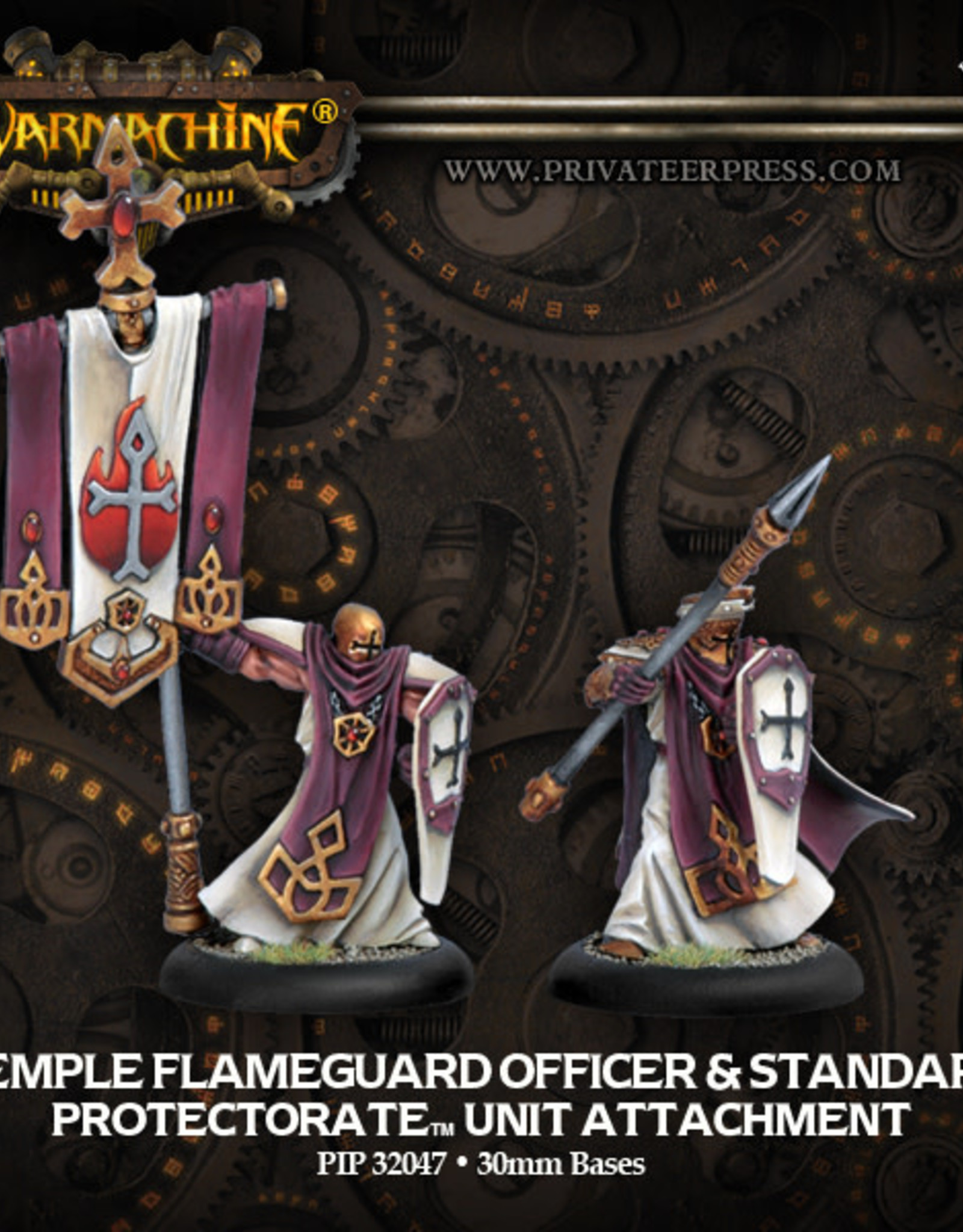 Warmachine Protectorate - Temple Flameguard Officer & Standard