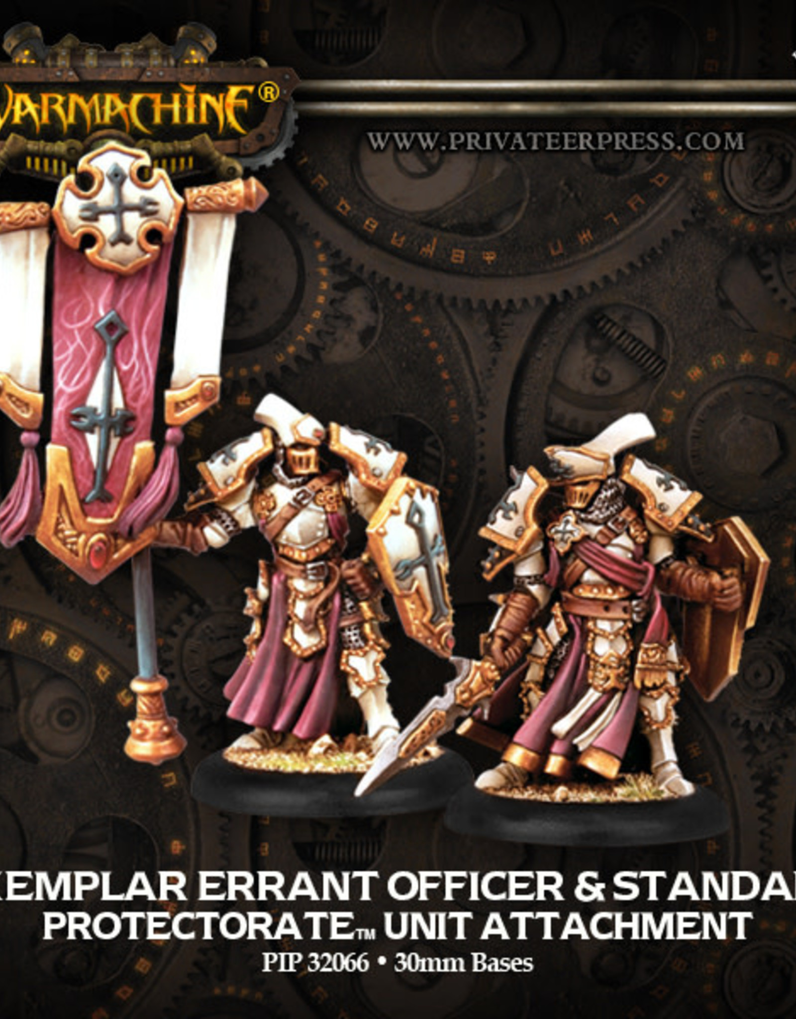 Warmachine Protectorate - Exemplar Errant Officer & standard
