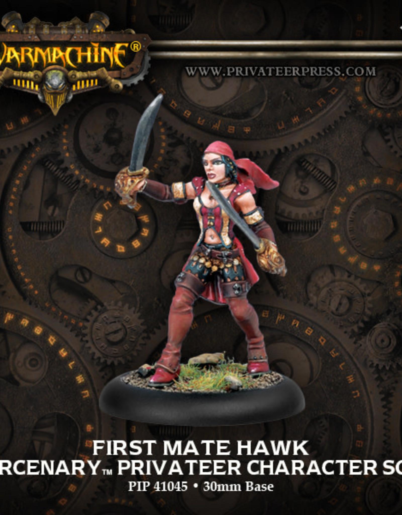 Warmachine Mercenaries - First Mate Hawk