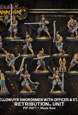 Warmachine Scyrah - House Ellowuyr Swordsmen and Officer
