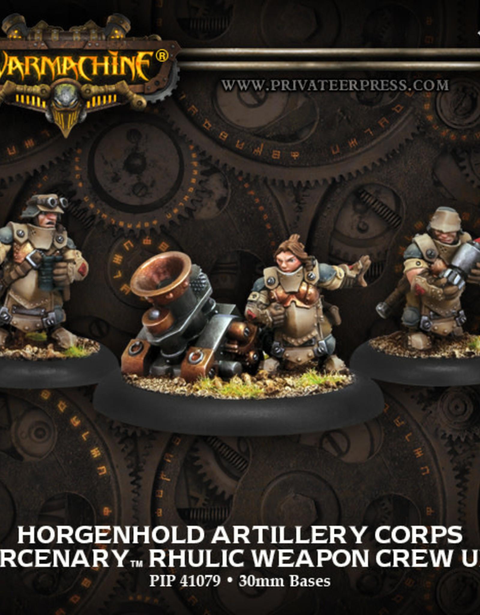 Warmachine Mercenaries - Horgenhold Artillery Corps