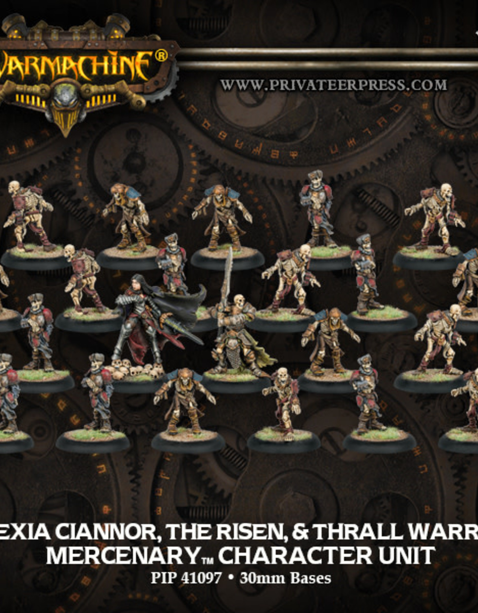 Warmachine Mercenaries - Alexia Ciannor The Risen & Thrall Warrior